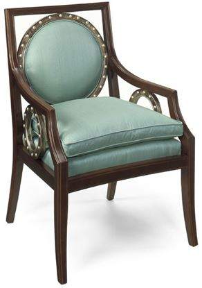 Picture of Gardner Polished Aqua Chair
