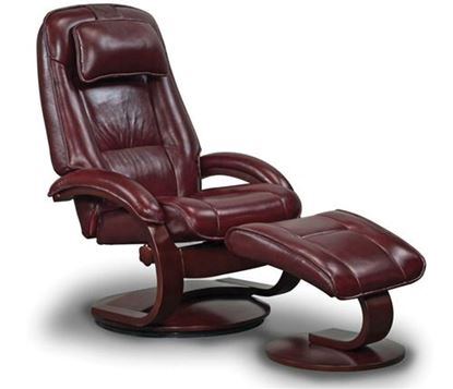 Picture of MERLOT Leather Recliner with Alpine Finish