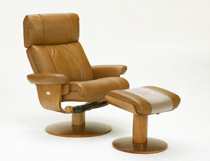 Picture of RECLINER SADDLE LEATHER WALNUT FINISH