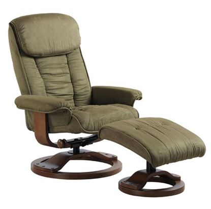 Picture of RECLINER SAGE MICROFIBER WALNUT FINISH