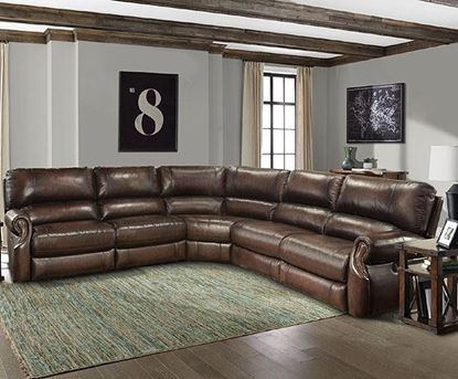 Picture of Hawthorne Leather Sectional Group