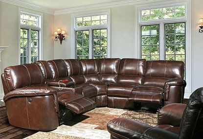 Picture of Hitchcock Cigar Leather Sectional