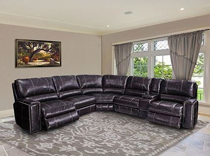 Picture of Salinger Twilight Leather Sectional