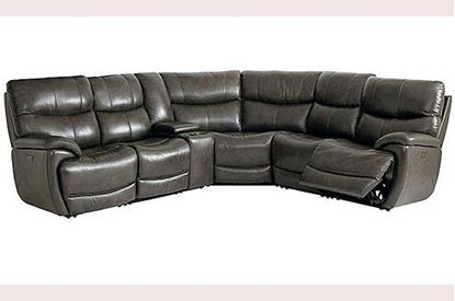 Brookville Leather Sectional (3713-SECT) in a Truffle leather