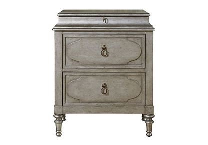 Picture of Cancale Bedside Chest - Regent Street Silver