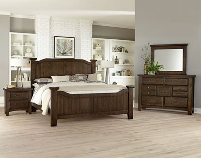Sawmill Bedroom Collection with Arched Bed in a Sedona finish
