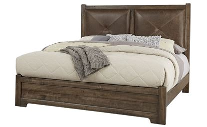 Cool Rustic Leather Bed (20-170) in a Mink finish from Artisan and Post